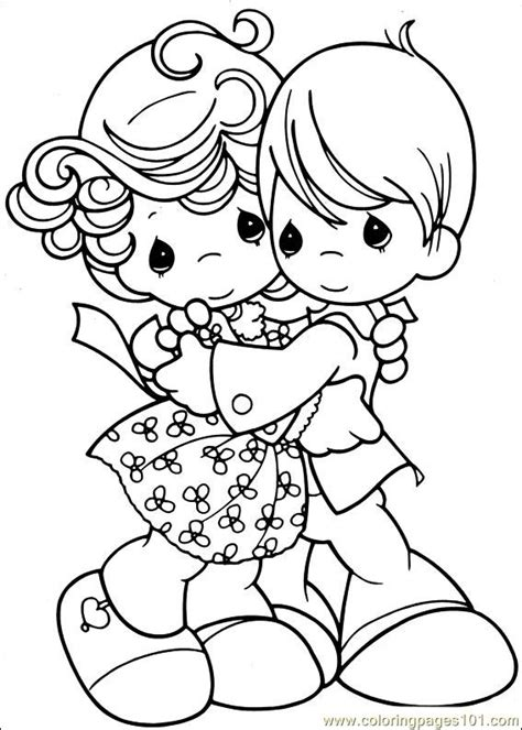 Precious Moments Valentine Coloring Pages - Eskayalitim