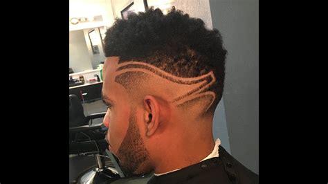 hightop fade  design  zay  barber youtube