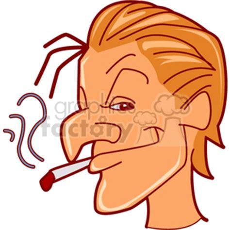 smoking clip art image royalty  vector clipart