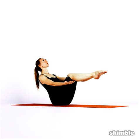 The Boat Exercise by Modified Boat Pose Exercise How To Workout Trainer By