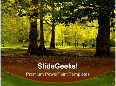 autumn park nature powerpoint templates  powerpoint