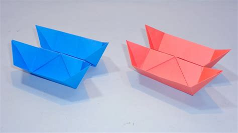 Origami Twin Boat Video by How To Make A Double Decker Paper Boat Conjoined Boat