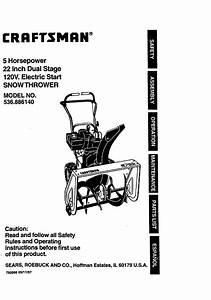 Craftsman Snow Blower 536 88614 User Guide