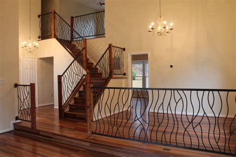 Home Interior Railings : Wrought Iron Stair Railings For Stunning Interior