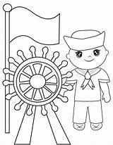 Sailor Coloring Pagina Kleurende Coloration Marinaio Libro Coloritura Colorare Kleurend Marin Zeemans Illustrazione Het Papierhintergrund Abeille Illustratie Erba Tandzijde Tandenborstel sketch template