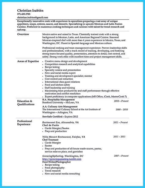 Resume Template Questions by Cool Excellent Culinary Resume Sles To Help You