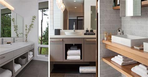 bathroom vanity with shelf 15 exles of bathroom vanities that open shelving