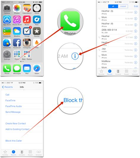 how to block a contact iphone how to block phone calls facetime calls and messages on