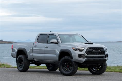 black leather platform bed 2018 toyota tacoma trd lifted custom in cement grey