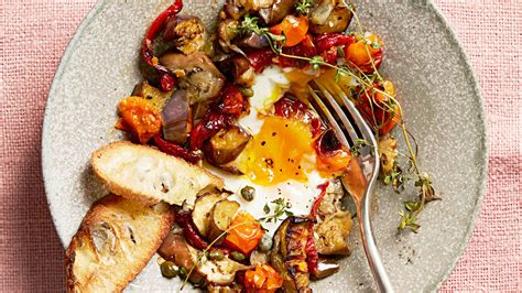 roasted ratatouille  eggs