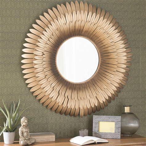 miroir chambre bébé miroir en métal doré d 103 cm tivoli maisons du monde