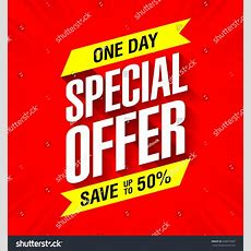 One Day Special Offer Sale Banner Stock Vector 428675467 Shutterstock