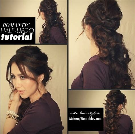 diy easy romantic curls half up half down hairstyle