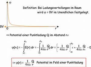 Elektrisches Potential Berechnen : potential einer punktladung ~ Themetempest.com Abrechnung