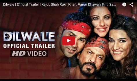 srks dilwale official trailer released dilwale trailer