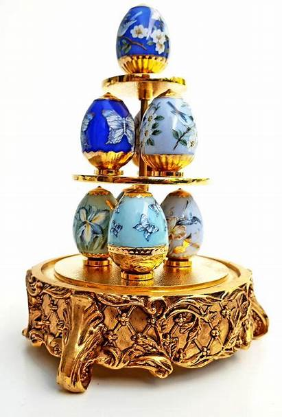 Faberge Garden Eggs Sapphire Imperial Egg Glass