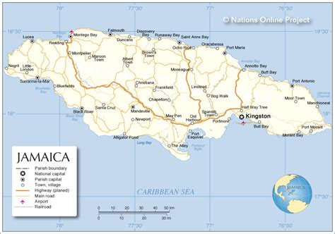 political map  jamaica nations  project