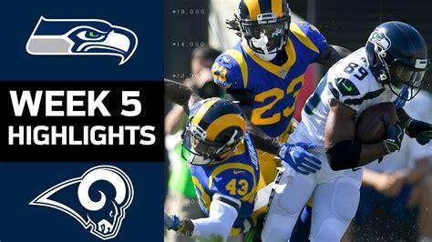 seahawks  rams nfl week  game highlights