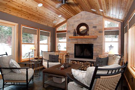 4 season porch decorating ideas eagan four season addition rustic porch minneapolis by embellishments design studio