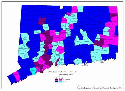 Connecticut Political Maps Democratic 2006 Senate Politics