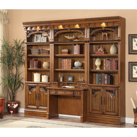 library wall units bookcase parker house barcelona 4pc library bookcase wall unit with