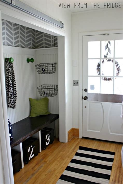 Front Entry Closet Organization Ideas by Modern Entryway Makeover The Reveal Orc Finale
