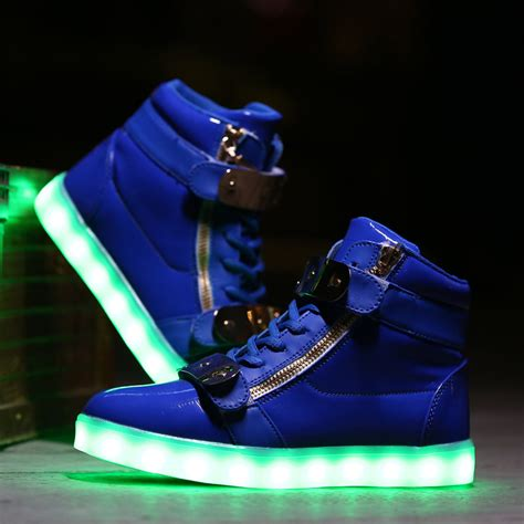 light up high tops big kids led light up shoes cotton candy blue low top sale