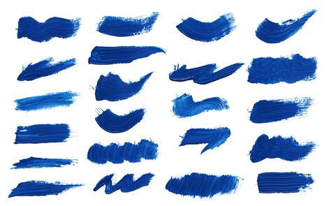 Blau Streichen 22 blue paint brush stroke png transparent onlygfx