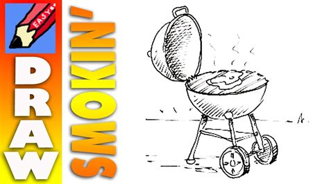 draw  barbecue real easy youtube