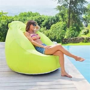 Mobilier Gonflable Exterieur : pouf d 39 ext rieur gonflable goutte d 39 eau anis achat ~ Premium-room.com Idées de Décoration