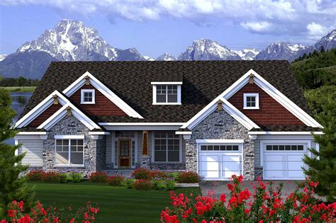 center entry house plan  great room ah architectural designs house plans