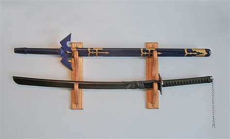 wall sword display rack