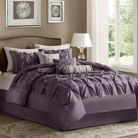 king size bedding comforter set  piece purple luxury