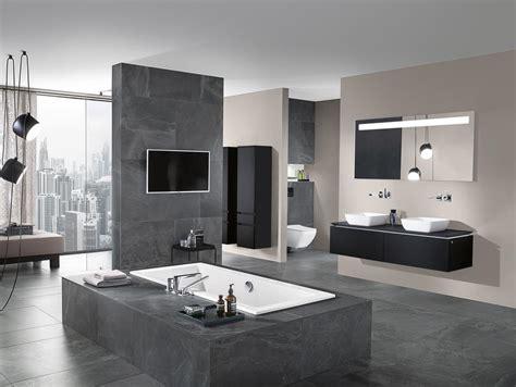 badezimmer  grau einrichten  ideen fuer badfliesen