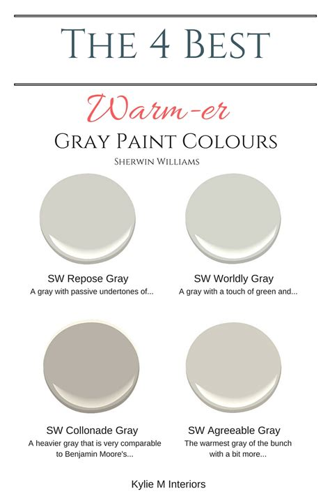 the best warm gray paint colours that are almost greige