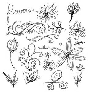 Easy to Draw Flower Doodles