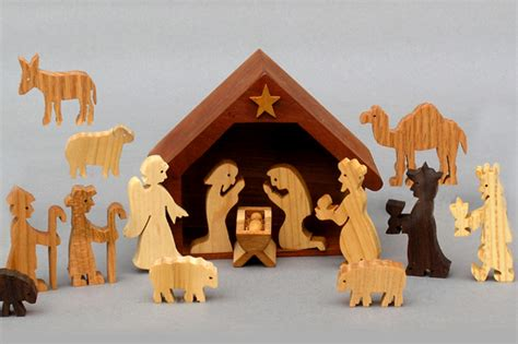 wooden nativity sets  children handmade  america