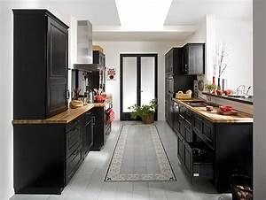 Quelle implantation pour ma cuisine galerie photos d for Meuble de salle a manger avec cuisine rouge et noir