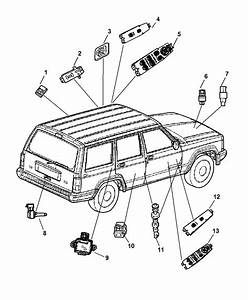 2001 Jeep Cherokee Switches Body