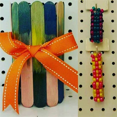 dipdye pencilholder  ponybead bracelet classes