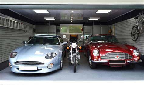 Fitted Garage Interior & Aston Martin Owners Garage From