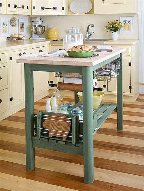 small space kitchen island small space kitchen island ideas bhg 5554