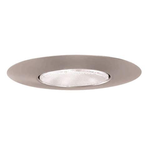 recessed lighting trim halo 300 series 6 in satin nickel recessed ceiling light