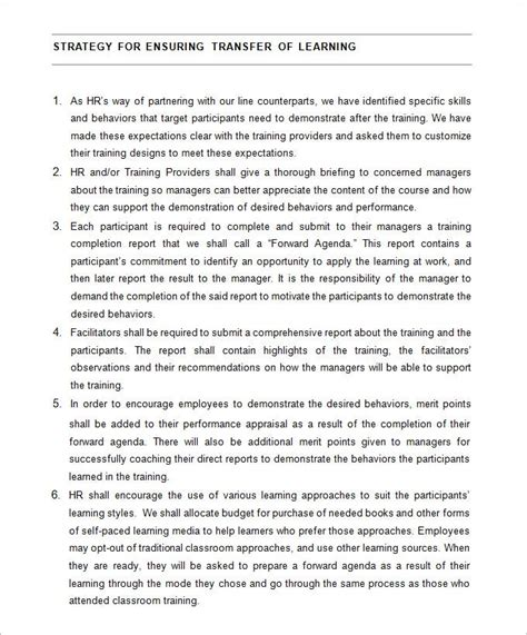 hr strategy template   word  documents