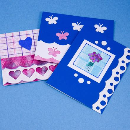 Cards With A Scalloped Edge  Crafty Bug
