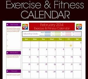 9 fitness calendar templates excel templates With gym calendar template