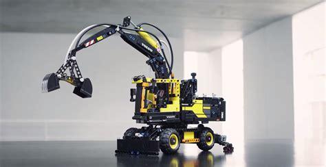 lego technic builds air powered mini wheeled excavator