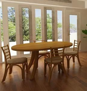 Table De Salle A Manger Ovale : table ovale en rotin brin d 39 ouest ~ Teatrodelosmanantiales.com Idées de Décoration