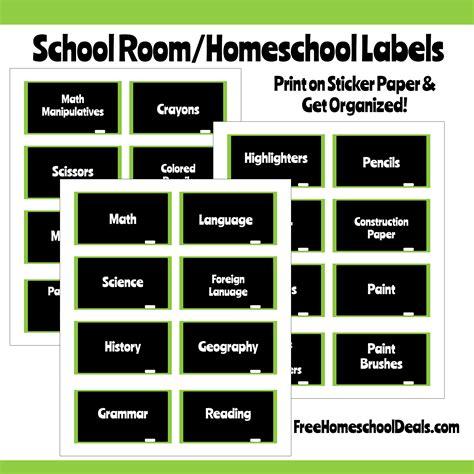 chalkboard style homeschool room labels instant