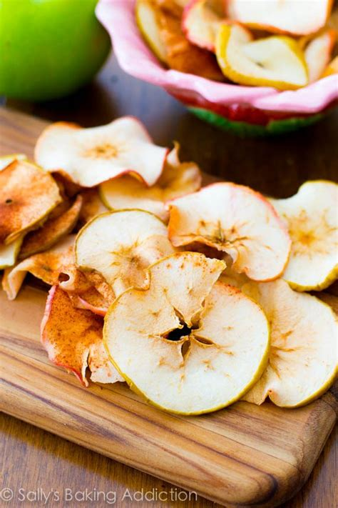 baked cinnamon apple chips sallys baking addiction